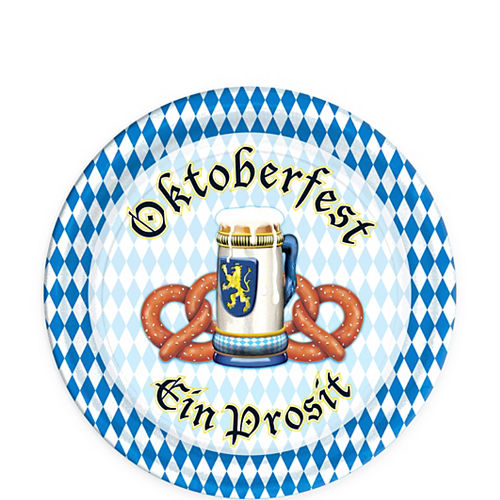 Oktoberfest Dessert Plates 8ct Image #1