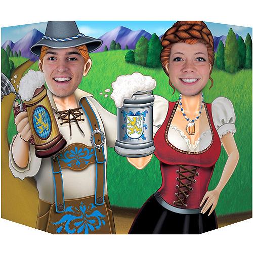Oktoberfest Couple Life-Size Photo Cardboard Cutout Image #1
