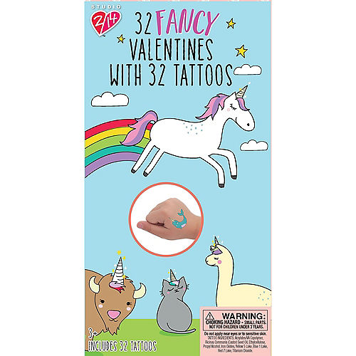 Fancy Valentine's Day Exchange Cards with Tattoos 32ct Image #1