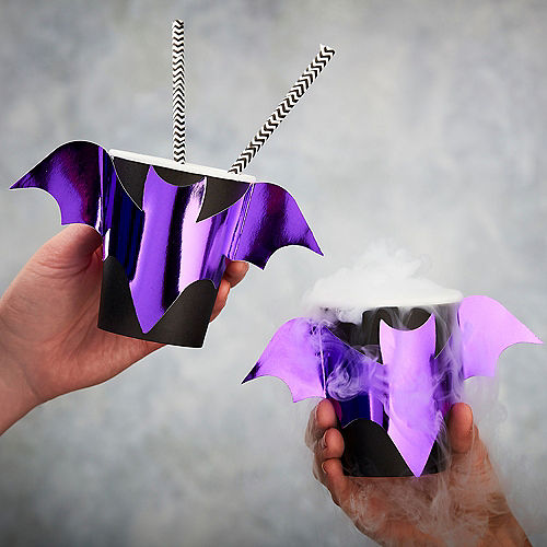 Ginger Ray Metallic Let's Get Batty Cups 8ct Image #1