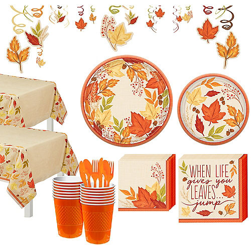 Fall Foliage Tableware Kit for 32 Guests Image #1
