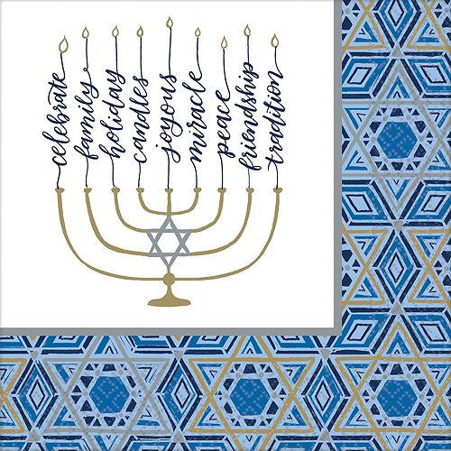 Festival Of Lights Hanukkah Tableware Kit for 18 Guests Image #5