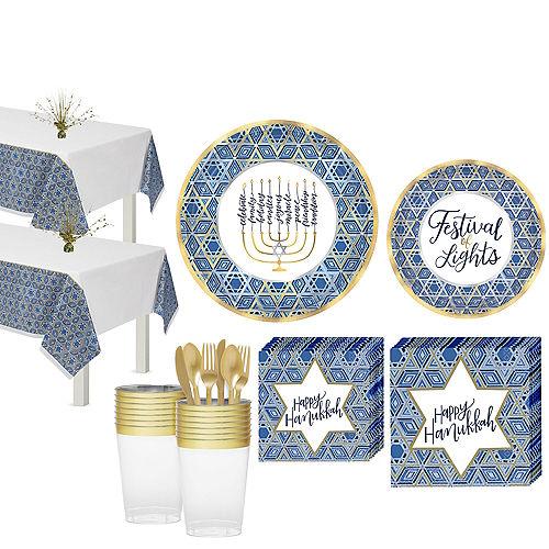 Festival Of Lights Hanukkah Tableware Kit for 36 Guests Image #1