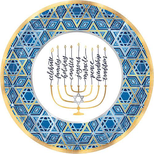 Festival Of Lights Hanukkah Tableware Kit for 36 Guests Image #3