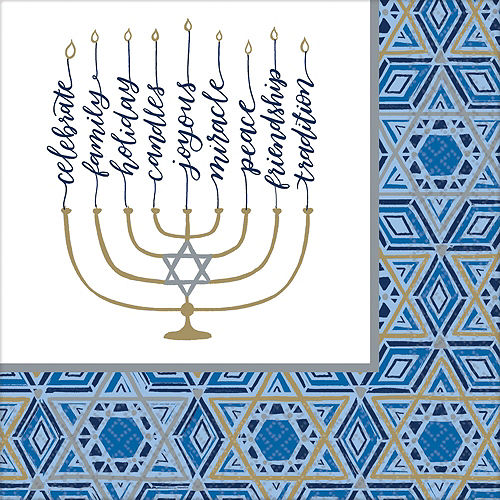 Festival Of Lights Hanukkah Tableware Kit for 36 Guests Image #5