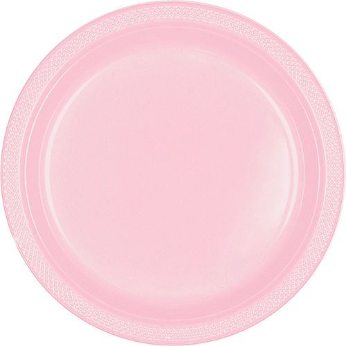 Blush Pink Plastic Dinner Plates 20ct Image #1