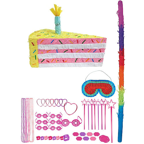 Cake Slice Pinata with Favors Image #1