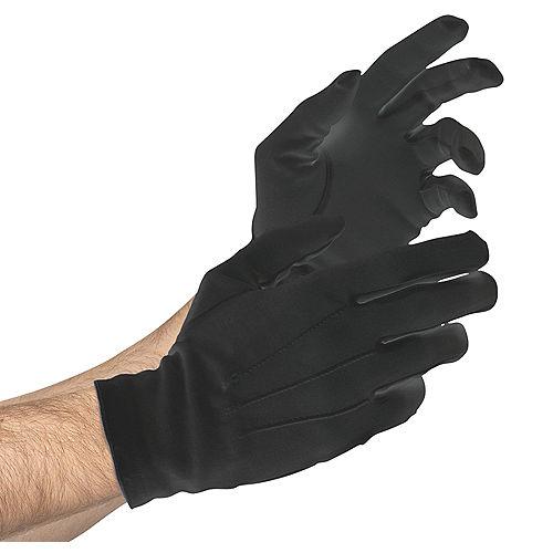 Adult Black Gloves Deluxe Image #1