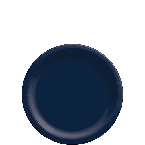 True Navy Blue Paper Tableware Kit for 50 Guests Image #2