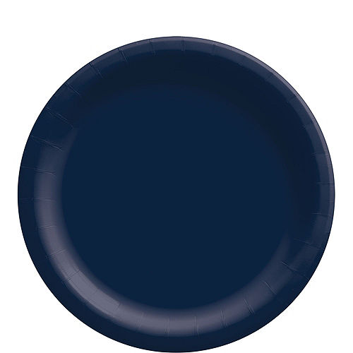 True Navy Blue Paper Tableware Kit for 50 Guests Image #3