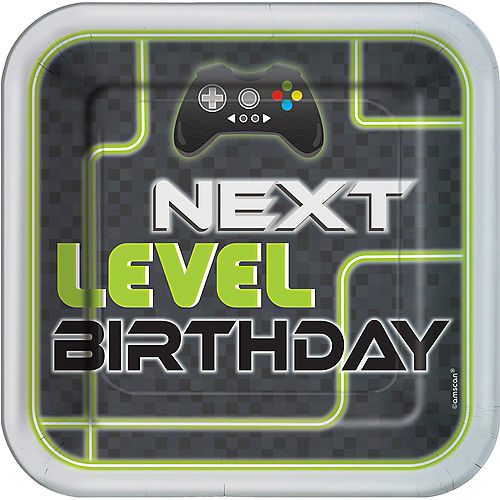 Level Up Lunch Plates 8ct Image #1
