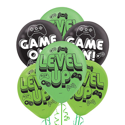 Level Up Latex Balloons 6ct Image #1