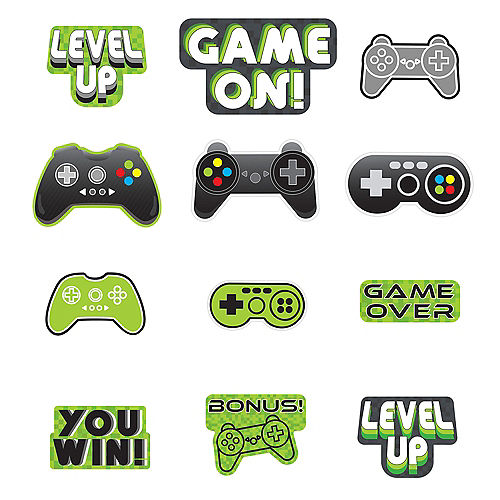 Level Up Cardstock Cutouts 12ct Image #1