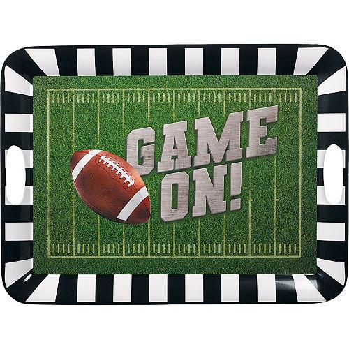 Go Fight Win Football Large Melamine Platter Image #1