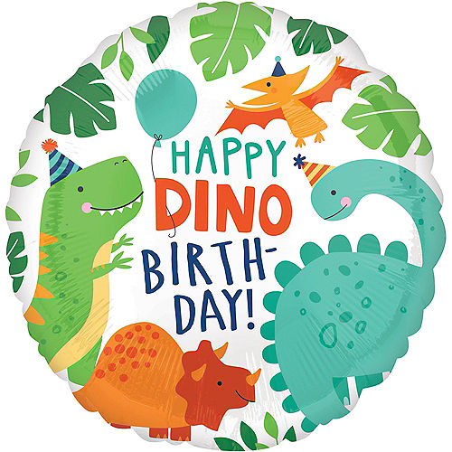 Dino-Mite Birthday Balloon, 18in Image #1