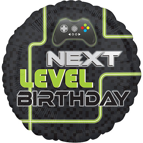 Level Up Birthday Balloon, 18in Image #1