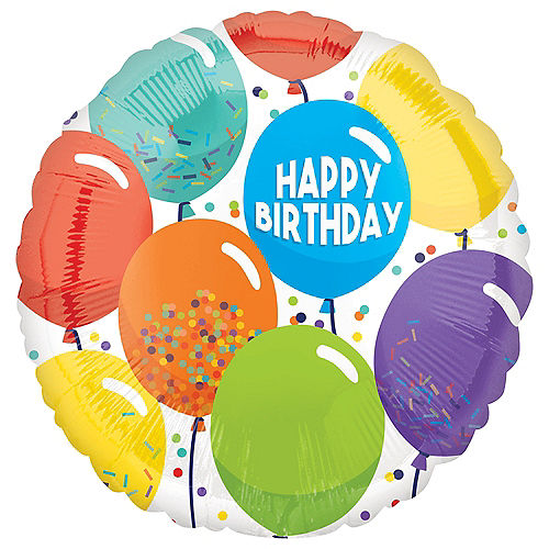 Multicolor Balloons Birthday Balloon Image #1