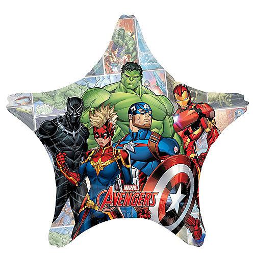 Giant  Marvel Avengers Unite Star Balloon Image #1