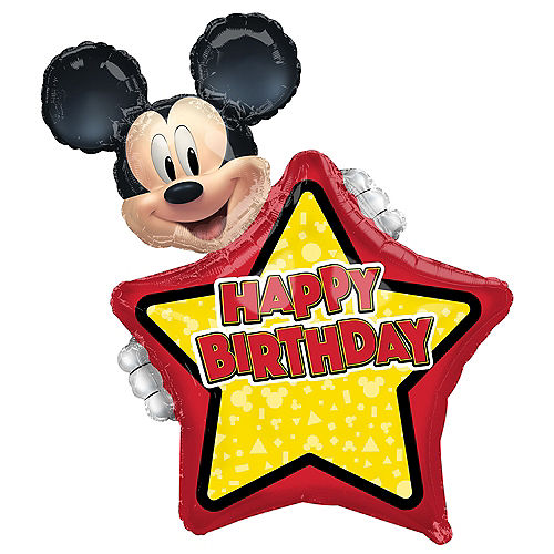 Giant Personalized Mickey Mouse Forever Birthday Balloon Image #1