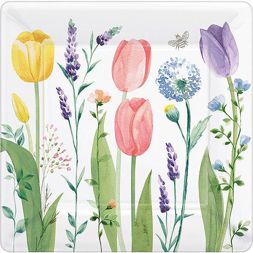 Tulip Garden Dinner Plates 8ct Image #1