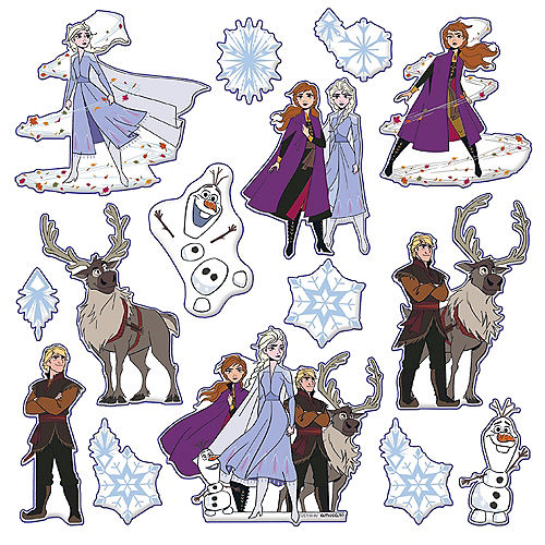 Frozen 2 Puffy Stickers 1 Sheet Image #1
