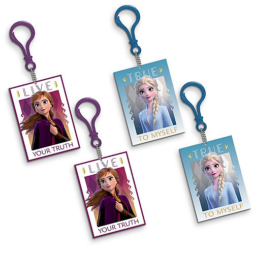 Clip-On Frozen 2 Keychains 8ct Image #1