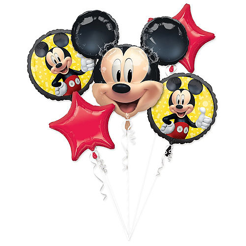 Mickey Mouse Forever Balloon Bouquet 5pc Image #1