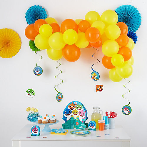 Baby Shark Swirl Decorations 12ct Image #2