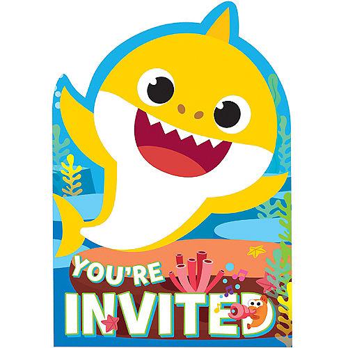 Baby Shark Invitations 8ct Image #1