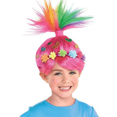 Child Multicolor Poppy Wig - DreamWorks Trolls World Tour Image #1