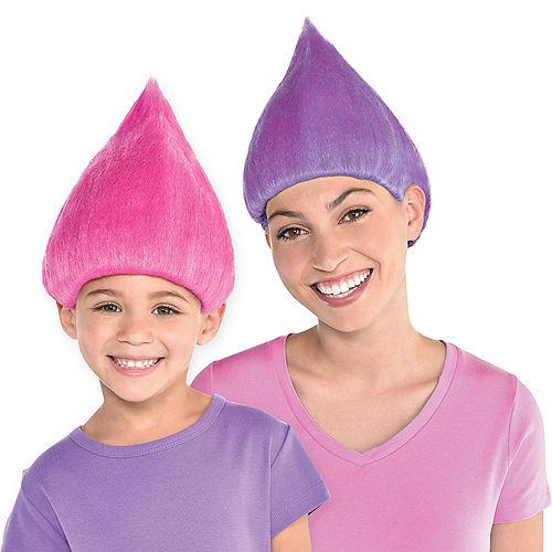 Trolls World Tour Reversible Pink or Purple Wig Image #1