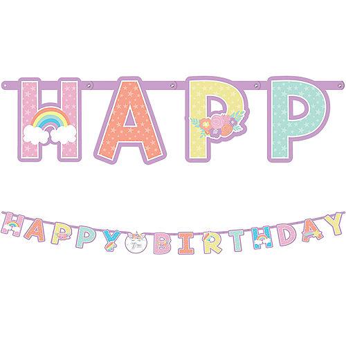 Jumbo Unicorn Party Birthday Banner Kit Image #1
