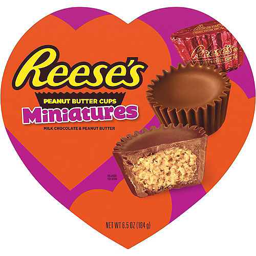Milk Chocolate Reese's Peanut Butter Cup Miniatures Valentine's Day Box 24pc Image #1