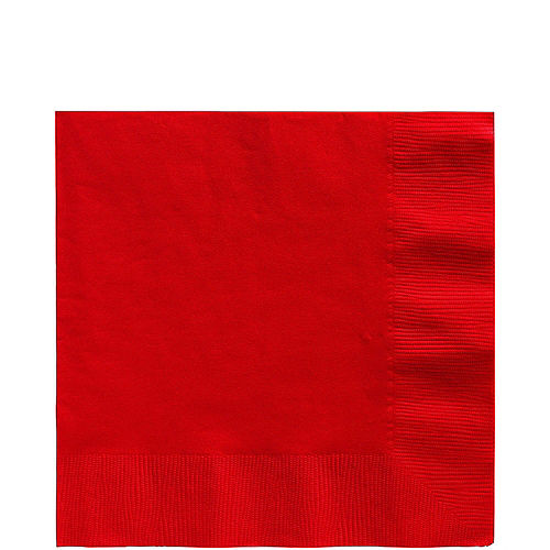 Red Tableware Kit for 20 Guests Image #5