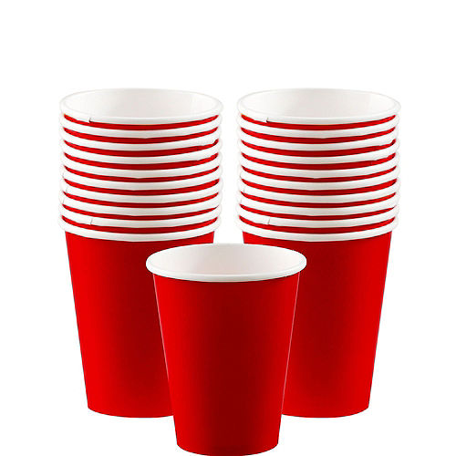 Red Tableware Kit for 20 Guests Image #6