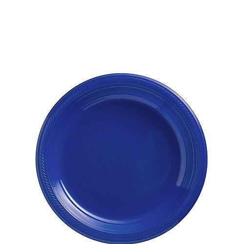 Royal Blue Plastic Tableware Kit for 20 Guests Image #2