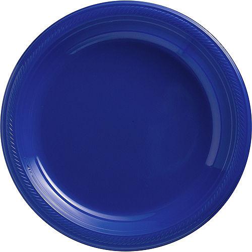 Royal Blue Plastic Tableware Kit for 20 Guests Image #3