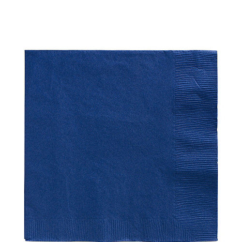 Royal Blue Plastic Tableware Kit for 20 Guests Image #5