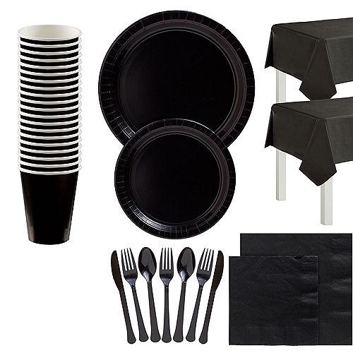 Black Tableware Kit for 20 Guests Image #1
