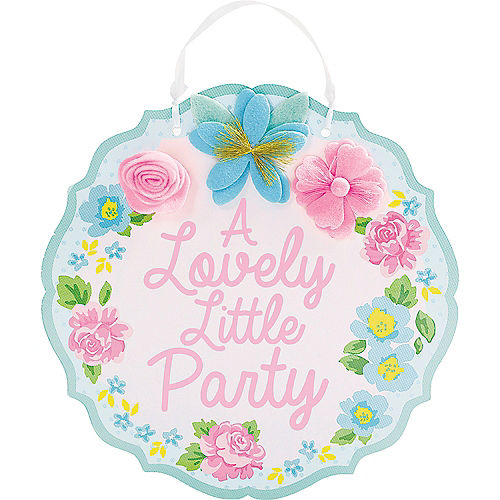 Tea Party Lovely Little Sign Image #1