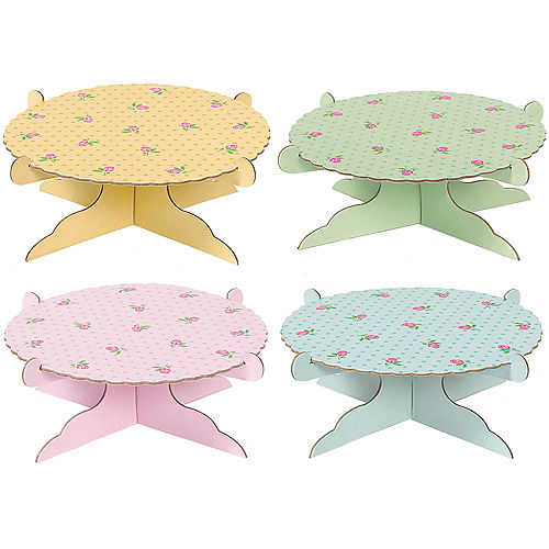 Mini Tea Party Cake Stands 4ct Image #1