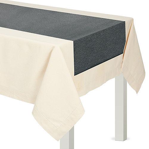Gray Premium Fabric Table Runner Image #1