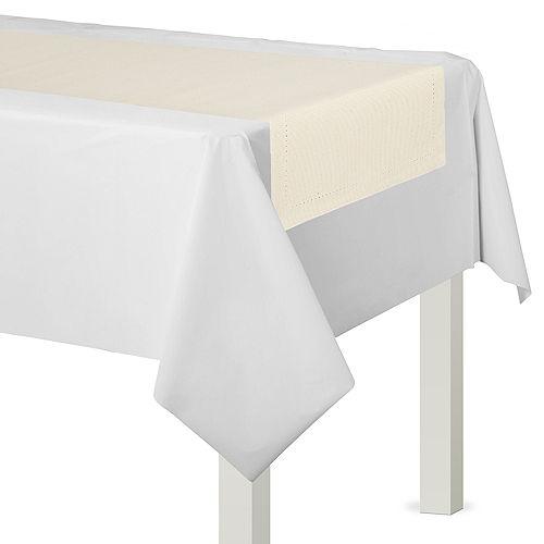 Cream Premium Fabric Table Runner Image #1