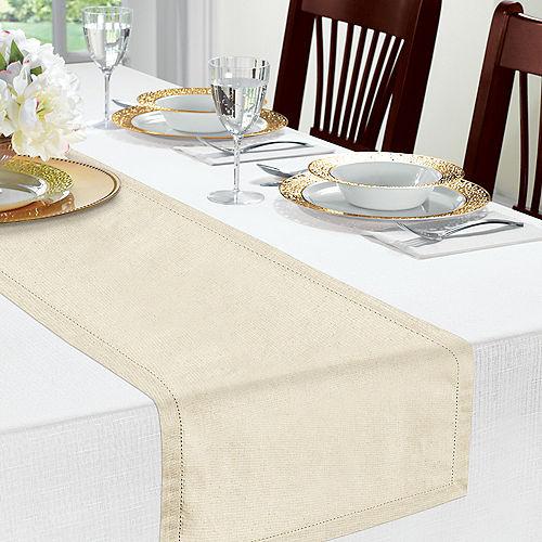 Cream Premium Fabric Table Runner Image #3