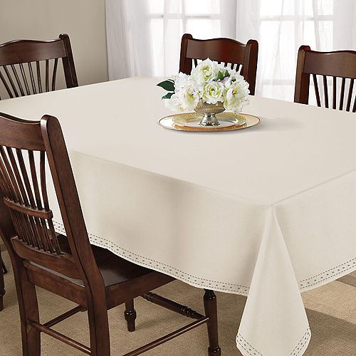 Cream Fabric Tablecloth Image #2