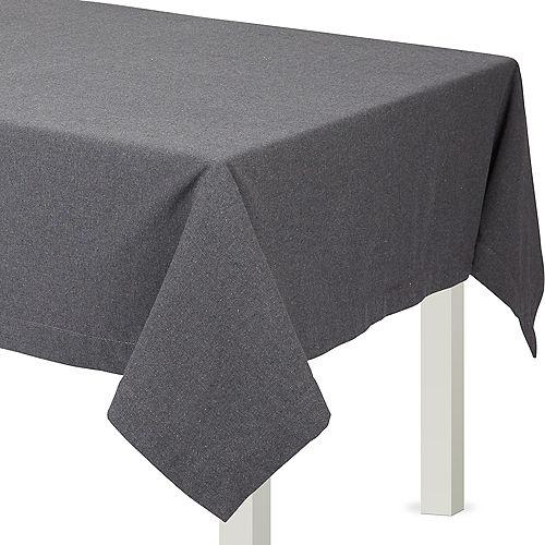 Gray Fabric Tablecloth Image #1