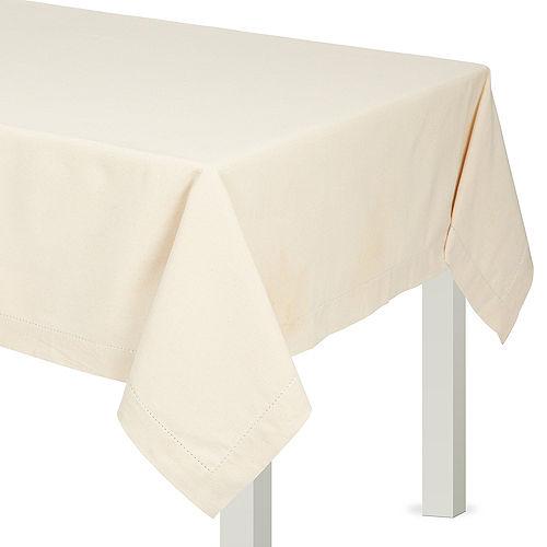 Cream Fabric Tablecloth Image #1