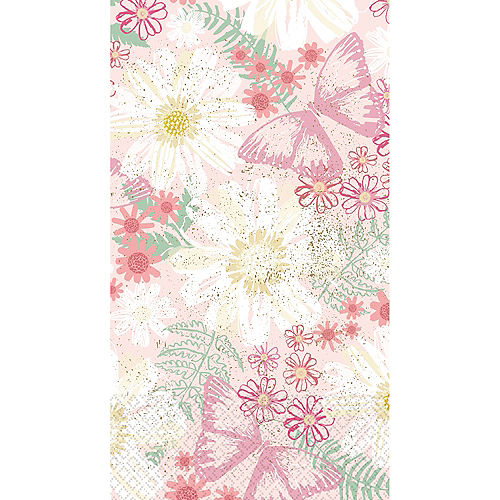Spring Butterflies Guest Towels 16ct Image #1
