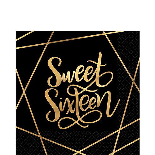 Elegant Sweet 16 Tableware Kit for 16 Guests Image #5