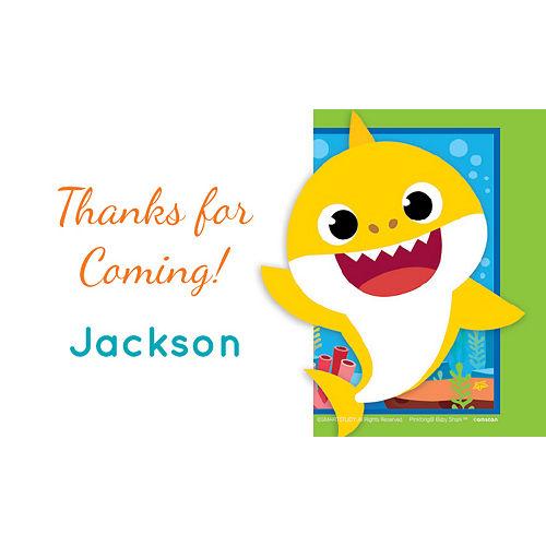 Custom Baby Shark Thank You Notes Image #1